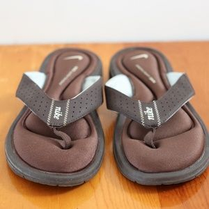Nike Women's Ultra Comfort Thong Sandals Brown 9